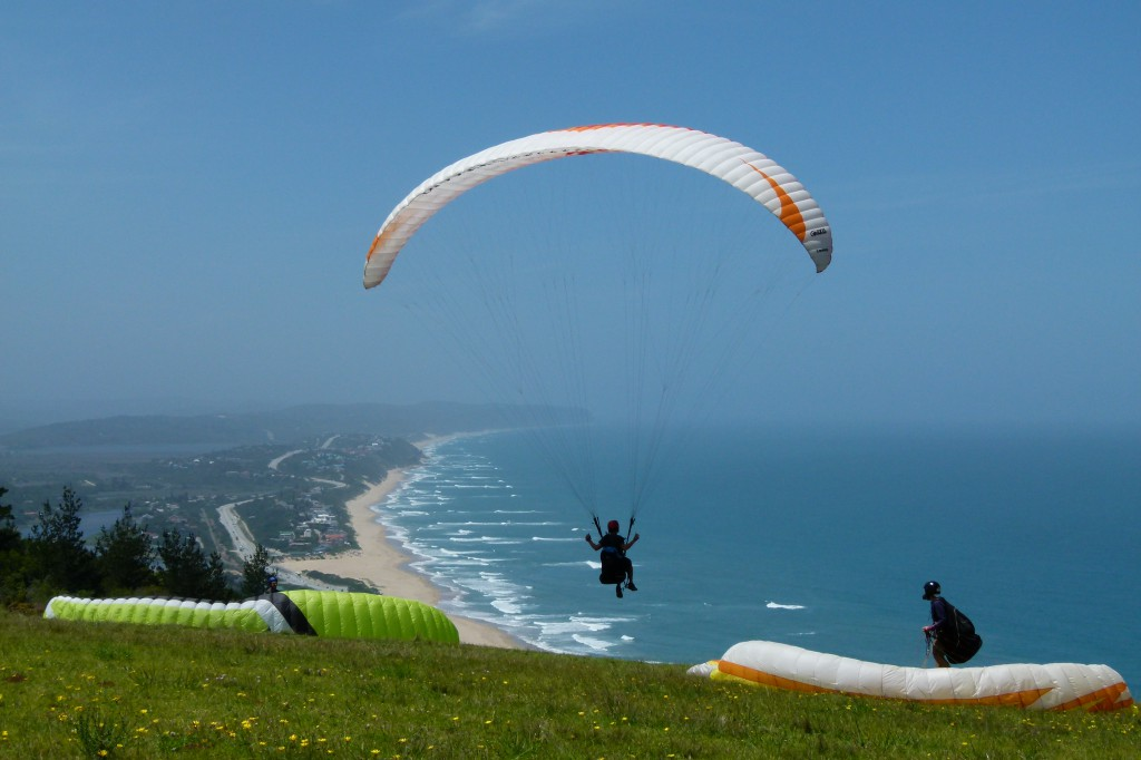 Paraglider über Wilderness